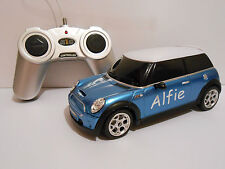 RADIO CONTROL CAR PERSONALISED NAME RC TOY CAR MINI COOPER S BOY BIRTHDAY GIFT