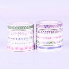 DIY 10 Roll 10M Hand Painted Washi Tape Scrapbooking Craft Paper Sticky Sticker