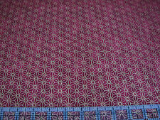 3 Yards Quilt Cotton Fabric- Northcott Kabuki Sashiko Style Star Design Maroon M