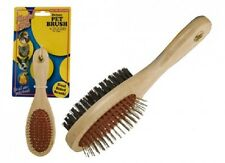 Wholesale-Resellers-24 X DUAL SIDED WOODEN PET BRUSH