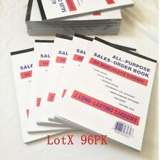 """Lot of 96 Sales Order Book Receipt Book 50 Duplicate Forms 5.5""""x8"""" Wholesale lot"""
