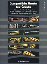 Larry Clark vientos FLAUTA OBOE compatible dúos para aprender a tocar música Libro Canciones