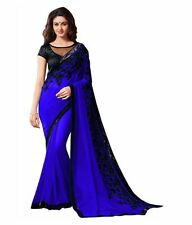 Blue Bollywood Indian Ethnic Party Wedding Designer Sari w Blouse SAREE EDH