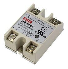 5PCS 24V-380V SSR-40DA 40A 3-32V DC-AC Solid State Relay Module for Arduino