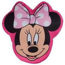 DISNEY MINNIE MOUSE MAKEOVER HEAD SHAPED CUSHION PLUSH PILLOW GIRLS BEDROOM