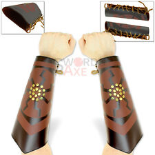 Studded Elven Bracers Pair Cordura Leather LARP Costume Arm Armor TES ESO Skyrim