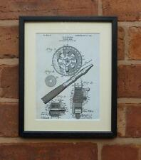 USA Patent Drawing FLY FISHING REEL tackle fish MOUNTED PRINT 1906 Xmas Gift