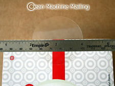 """2 Inch Clear Round Sticker Retail Box Mail Wafer Seals Circle Tab 2"""" Roll of 100"""