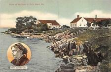 HARRIET BEECHER STOWE HOME OF THE PEARL OF ORR'S ISLAND MAINE POSTCARD