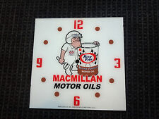 """*NEW* 15"""" MACMILLAN MAN OIL GASOLINE HOT ROD SQUARE GLASS clock FACE FOR PAM"""