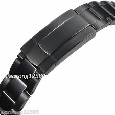 20mm Black PVD Watch Band Fit With 40mm GMT Model Case Parnis