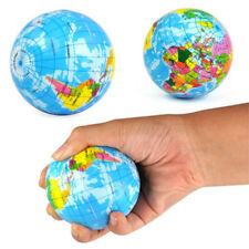 1x Hand Exercise Stress Relief Squeeze Foam Ball World Map Earth Globe hot lm