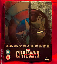 Captain America: Civil War 3D & 2D Zavvi UK Exclusive Limited Edition Steelbook