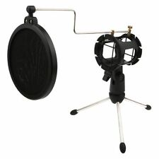 Durable Desktop Microphone Tripod Stand with Shock Mount Mic Holder Pop Filter