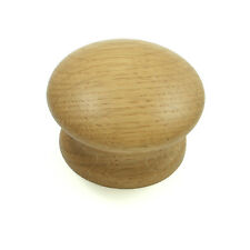Oak Wooden Door / Drawer Knob for Kitchen or Cupboard Furniture 44mm diameter