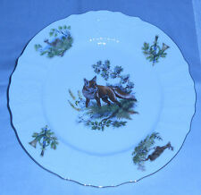 WILDLIFE *FOX PATTERN *BERNADOTTE *CZECH REPUBLIC *FINE CHINA *DINNER PLATE RARE