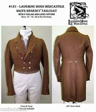 Mens Regency era Tailcoat sizes 34-56 Laughing Moon Costume Sewing Pattern 121