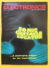 PRACTICAL ELECTRONICS - Magazine - January 1971 - Sonic Obstacle Locator