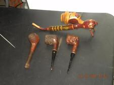 (4) vintage smoking pipes Man face long  , Williard, Thermofilter , Salvatella