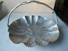 Hammered aluminum nut/fruit tray~Floral Design