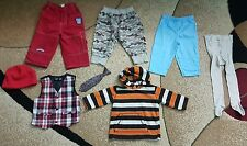 Lot of 8 Baby Boy Clothing Mix Pants Fleece Top Tights Hat  6-12 month