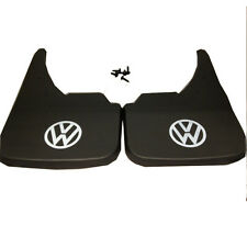 VW Volkswagen White Logo Universal Car Mudflaps Front Rear Fox Golf Jetta Guard