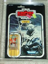 Vintage Star Wars 1980 AFA 80/85/85 YODA ESB 32 Back-B card MOC CLEAR BUBBLE!