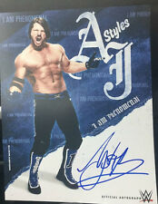 WWE AJ STYLES BULLET CLUB A J NXT HAND SIGNED POSTER PHOTO WRESTLING TNA GLOVES