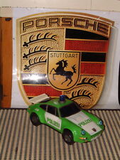 VINTAGE DAISHIN TIN B/O POLIZEI PORSCHE 911 TURBO (930). WORKING PERFECTLY!