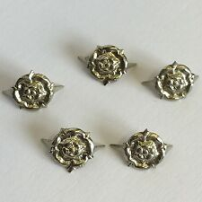 5 X WW2 / WW1 World War Two / One Replacement Silver Coloured Rosette Job Lot