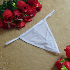 Sexy Mens G-string Bikini thong mini Underwear Low Rise Cotton sheer briefs
