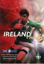 IRELAND v WALES 2006 RUGBY PROGRAMME - TRIPLE CROWN SEASON FOR IRELAND