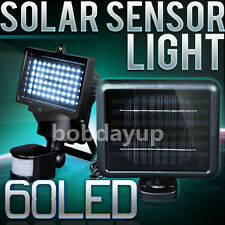 Solar Powered Security Light 60LED Motion Activated Detector Sensor Outdoor Lamp