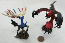 Pokemon XY Set of 2 XERNEAS & YVELTAL Miniature Figures (3-4 Inches)