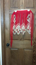 Lovely New Sheer Christmas Holiday Apron From Philippines Bright Red Rick Rack