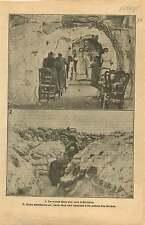 WWI Cave Soissons Aisne Aumoniers Militaires Poilus Tranchée 1915 ILLUSTRATION