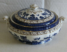 Booths A8025 Real Old Willow 24cm Covered Vegetable Tureen Dish Slightly A/F