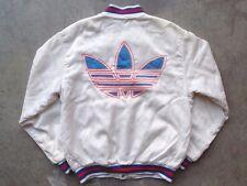 Vintage 1987 Adidas Satin Jacket Size M L Run DMC France Palace Distressed