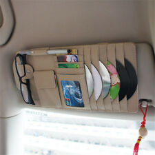 1*SUV Pickup Multifunction Leather Sun Visor Cover CD Folder Sunglass Clip Clean