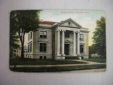 VINTAGE POSTCARD OF THE PUBLIC LIBRARY IN WOOSTER, OHIO 1901