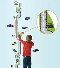 Racing Cars Measure Height Chart Removable Wall Sticker Kids Boys Room Nursery