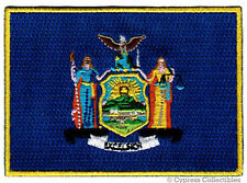 NEW YORK STATE FLAG embroidered iron-on PATCH EMBLEM NY