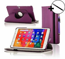Leather Purple Rotating Case Cover for Samsung Galaxy Tab PRO 10.1 + Stylus