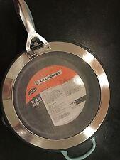 $350 Le Creuset Signature 3 Qt Cast-Iron Deep Skillet w/Splatter Screen - Ocean