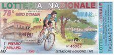 Biglietto lotteria giro d'Italia del 1995