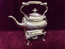 silver plate spirit kettle on stand