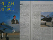 1/1991 ARTICLE 3 PAGES SCALED COMPOSITES ARES BURT RUTAN GAU-12/A 25 MM CANNON