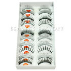 10 Pairs Mixed False Eyelash Fake Eye Lashes Soft Makeup Eye Lash Extension #482