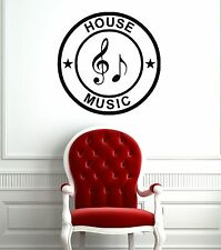 Wall Stickers Vinyl Decal House Music Print Coolest Decor for Room (ig1084)