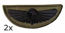 2 x 22 SAS Special Air Service Parachute Wings Subdued Badge HALO Patch
